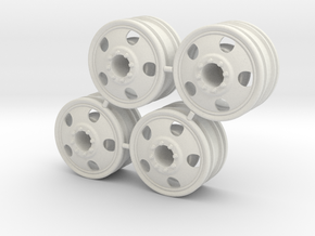 Rim Big Truck-B 4x4 Front Set - Losi McRC/Trekker in White Strong & Flexible