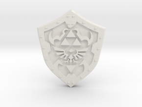 Hero Shield in White Natural Versatile Plastic