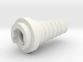 "King of the Rocket Men ""Flash Hider"" in White Natural Versatile Plastic"