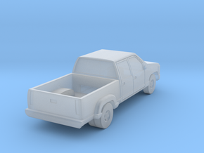 Dual Rear Wheel Crewcab Pickup - Zscale in Smooth Fine Detail Plastic