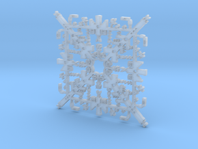 Super Mario Brothers Snowflake in Smooth Fine Detail Plastic