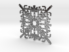 Super Mario Brothers Snowflake in Fine Detail Polished Silver