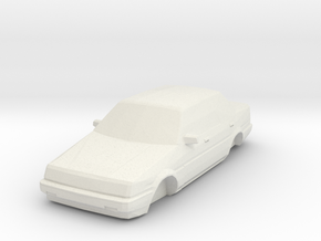 ho scale 1984-1987 toyota corolla in White Strong & Flexible