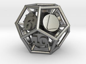 12-Sided Vector Die in Raw Silver