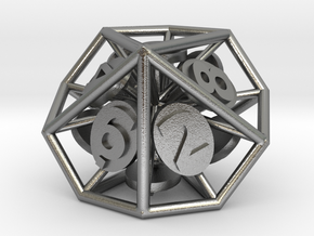 10-Sided Vector Die (1%s) in Natural Silver