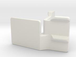 Gopro L-Mount (10 degrees) in White Natural Versatile Plastic