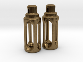 Tritium Earrings 4 (3x15mm Vials) in Natural Bronze