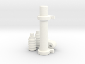 1/8 Generic Rack and Pinion Steering unit in White Processed Versatile Plastic
