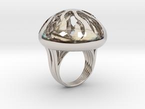 Tethys in Rhodium Plated Brass