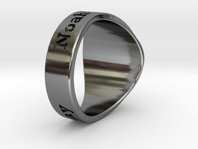 Buperball JBaayBaay Ring Season 5 in Fine Detail Polished Silver