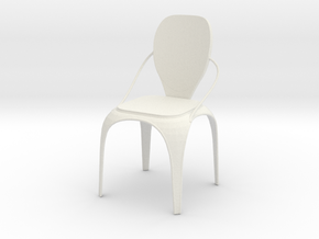 Spring chair in White Natural Versatile Plastic