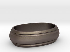 LS Guardian Spacer in Polished Bronzed Silver Steel