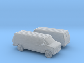 1/160 2X 1988 Chevrolet G Series Van in Frosted Ultra Detail