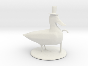 Lucky Duck in White Natural Versatile Plastic