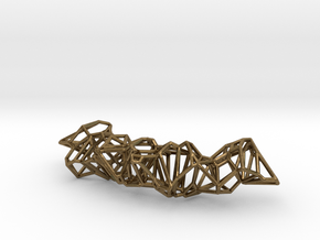 Voronoi Construction Framework Pendent in Natural Bronze