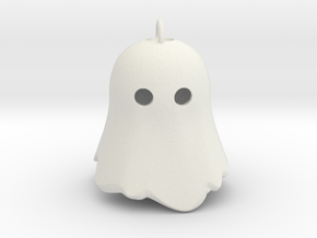 Little Ghostie pendant 1 in White Natural Versatile Plastic