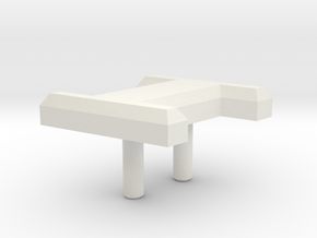 Retroën Character I in White Natural Versatile Plastic