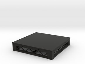 1:25 Platform 3x3 in Black Natural Versatile Plastic