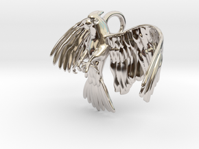 Corella Cockatoo Pendant in Rhodium Plated Brass