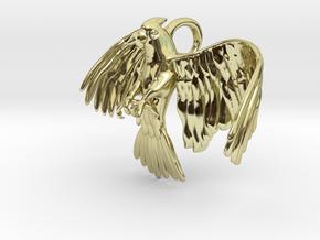 Corella Cockatoo Pendant in 18k Gold