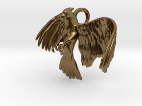 Corella Cockatoo Pendant in Polished Bronze