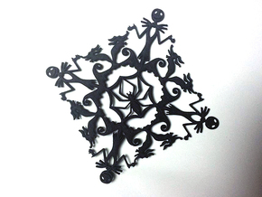 Nightmare Before Christmas Snowflake Coaster in Black Strong & Flexible