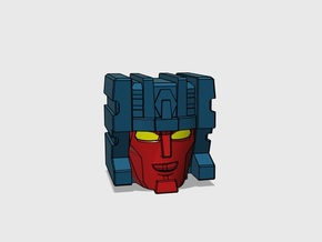 Paranoid Streetracer Head G1 with Eyes in Smooth Fine Detail Plastic