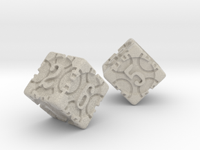DICE 2 pack in Natural Sandstone