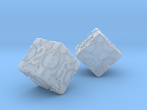 DICE 2 pack in Smooth Fine Detail Plastic