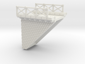 NV3M3 Small modular viaduct 1 track in White Natural Versatile Plastic