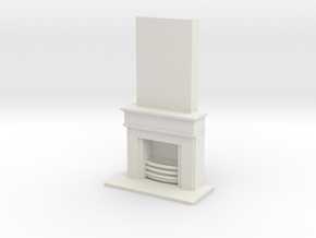 Fireplace Scaled in White Natural Versatile Plastic