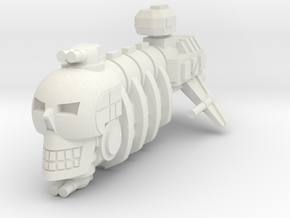 Skull Pirate in White Natural Versatile Plastic