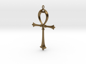 Ankh Nouveau in Natural Bronze
