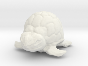 Turtle Miniature in White Natural Versatile Plastic