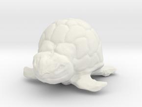 Turtle Miniature in White Natural Versatile Plastic