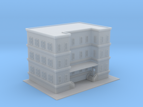City Apartment Building 3 Z Scale in Smooth Fine Detail Plastic