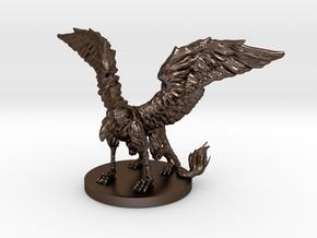 Griffon Miniature in Polished Bronze Steel