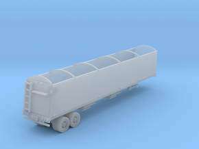 Grain Trailer N Scale in Smooth Fine Detail Plastic