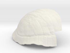 Turtle Shell Prosthetic in White Natural Versatile Plastic
