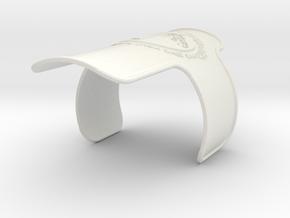 Branded Flat Wristband in White Natural Versatile Plastic