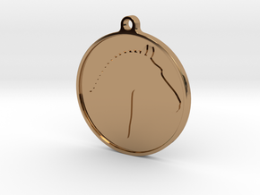 Branded Pendant (TheMarketingsmith) in Polished Brass