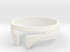 Bounty Hunter ring size 8 in White Processed Versatile Plastic