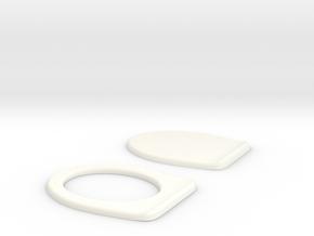 Miniature Toilet Seat B 1/12 in White Processed Versatile Plastic