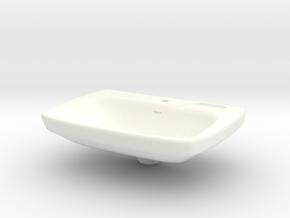 Miniature Bathroom Sink 1/12 in White Processed Versatile Plastic