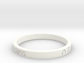 BRACCIALETTO Dario in White Strong & Flexible Polished