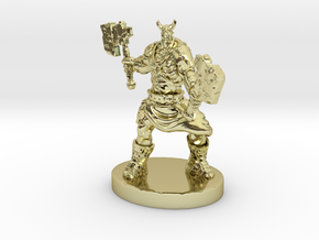 Orc Warrior Figurine in 18K Gold Plated