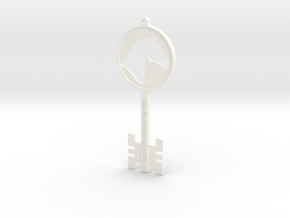 Branded Key Pendant (TheMarketingsmith) in White Processed Versatile Plastic