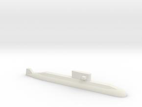 Lada-Class Submarine, 1/1800 in White Natural Versatile Plastic