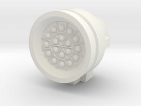 Missile Pod - Large Round in White Natural Versatile Plastic