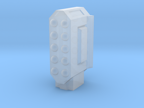 Missile Pod - Rectangular Vertical in Smooth Fine Detail Plastic